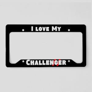 I Love My Challenger License Plate Holder
