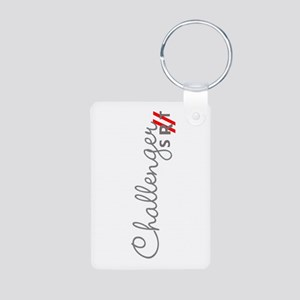Challenger Racing Stripes Aluminum Photo Keychains