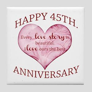 45th. Anniversary Tile Coaster