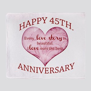 45th. Anniversary Throw Blanket