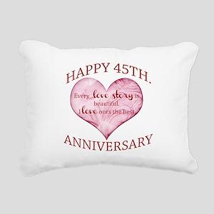 45th. Anniversary Rectangular Canvas Pillow