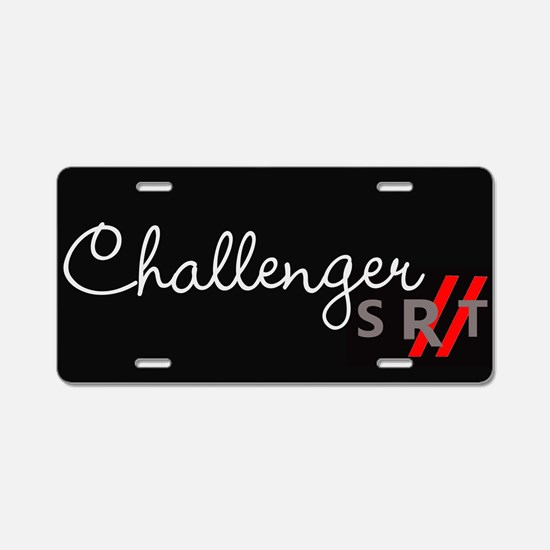 Challenger Racing Stripes Aluminum License Plate