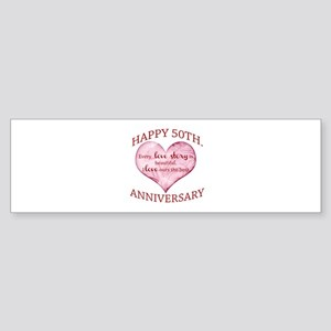 50th. Anniversary Bumper Sticker