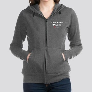 Personalized I Love Lucy Women's Zip Hoodie