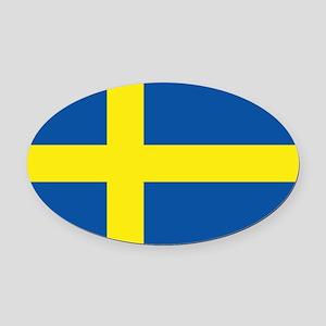 Sweden Flag Oval Car Magnet