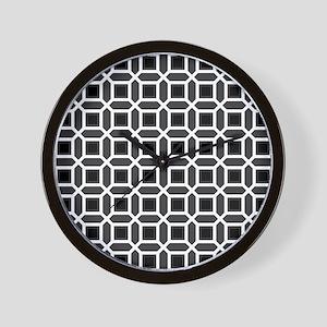 Black and White Mosaic Pattern Wall Clock