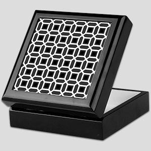 Black and White Mosaic Pattern Keepsake Box