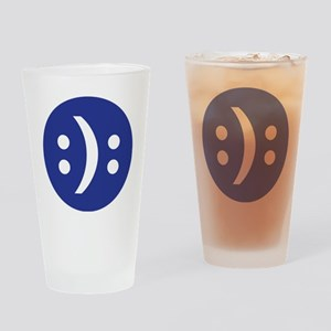Bipolar face Drinking Glass