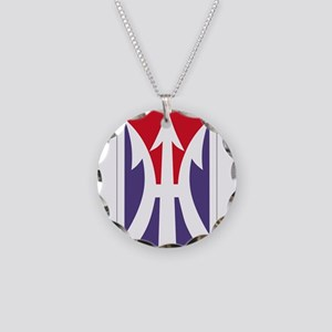 11th Light Infantry Brigade Necklace Circle Charm