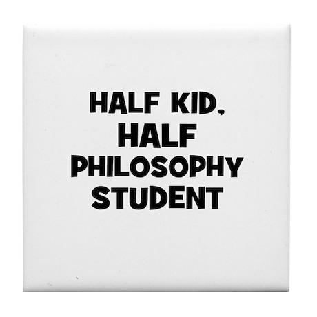 Half Kid, Half Philosophy Stu Tile Coaster