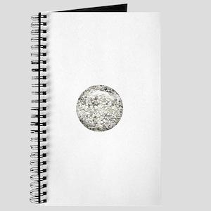 Silver Glitter Dot Journal
