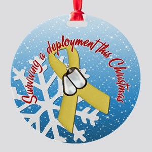 Yellow Ribbon Surviving Deployment Ornament