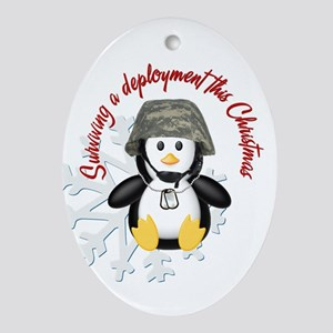 Surviving Deployment this Christmas- Penguin Ornam