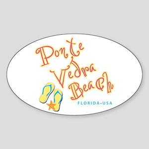 Ponte Vedra Beach - Sticker (Oval)