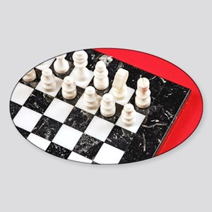 Black and white chess board Sticker