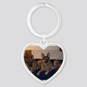 German Shepard on couch Keychains