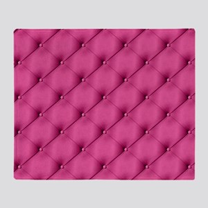 Pink Upholstery Pattern Throw Blanket