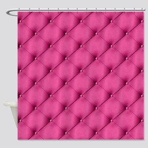 Pink Upholstery Pattern Shower Curtain