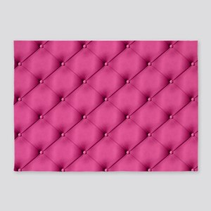 Pink Upholstery Pattern 5'x7'Area Rug