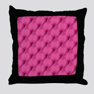 Pink Upholstery Pattern Throw Pillow
