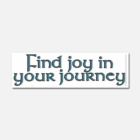 Find joy in your journey - Car Magnet 10 x 3