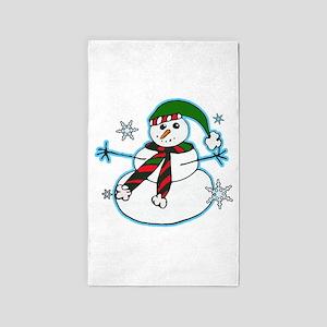 Happy snowman Area Rug