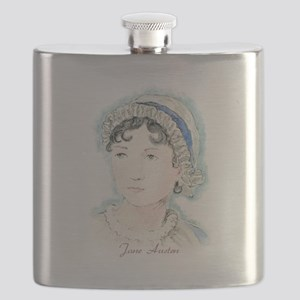 Jane Austen Painting Flask