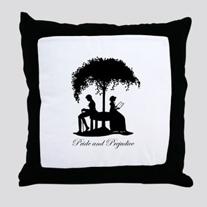 Pride and Prejudice Darcy and Lizzie Throw Pillow
