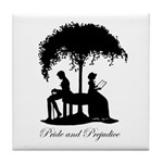 Pride and Prejudice Darcy and Lizzie Tile Coaster