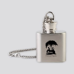 Pride and Prejudice Darcy and Lizzie Flask Necklac