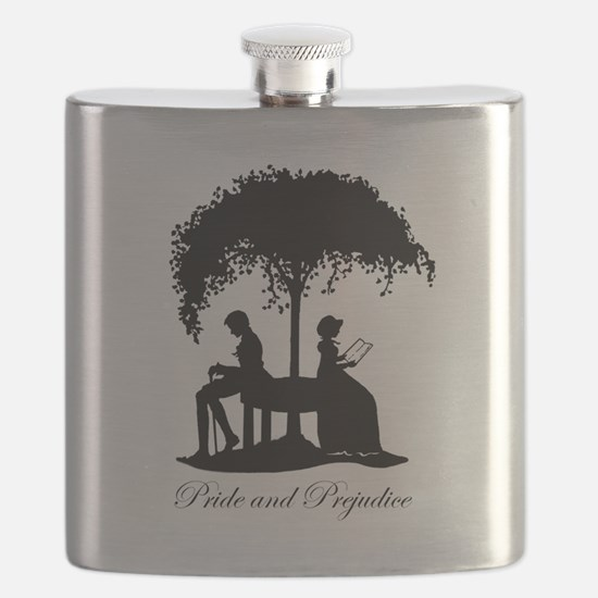 Pride and Prejudice Darcy and Lizzie Flask