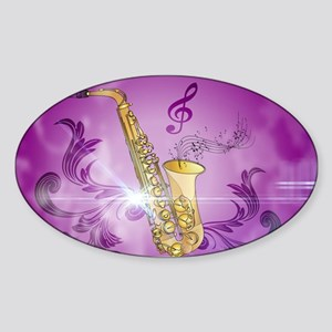 Saxophone with key notes Sticker