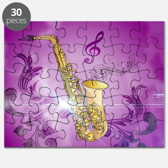 Saxophone with key notes Puzzle