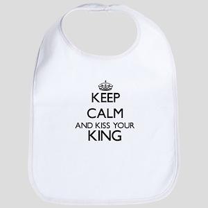 Keep calm and kiss your King Bib