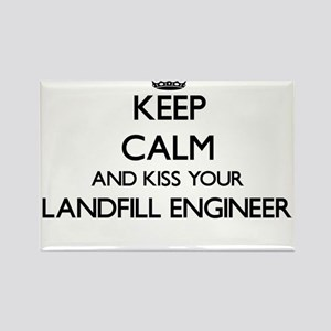 Keep calm and kiss your Landfill Engineer Magnets