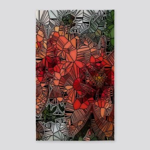 flowers such as stained glass Area Rug