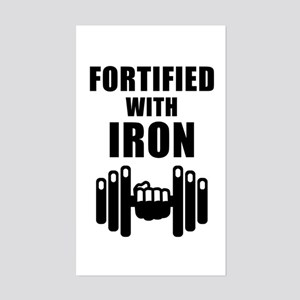 Fortified With Iron Sticker