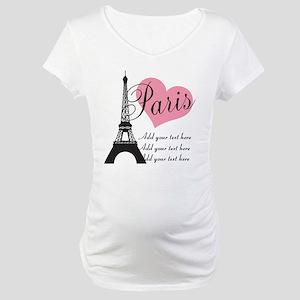 custom add text paris Maternity T-Shirt