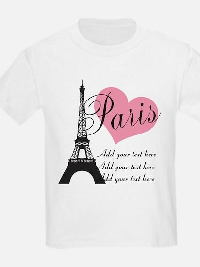 custom add text paris T-Shirt
