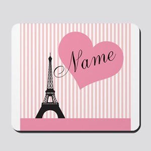 custom add text paris Mousepad