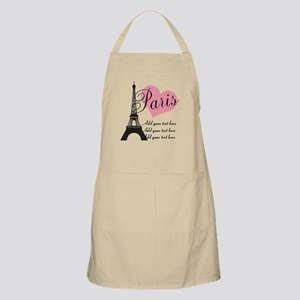 custom add text paris Apron
