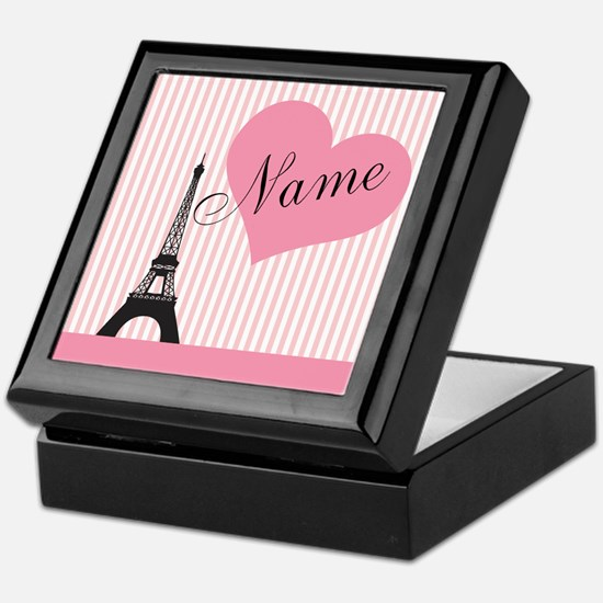 custom add text paris Keepsake Box
