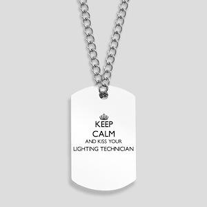Keep calm and kiss your Lighting Technici Dog Tags