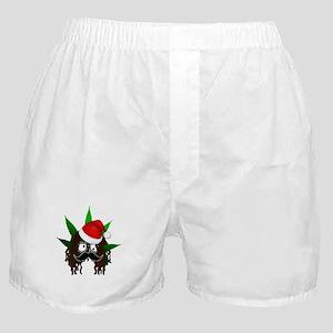 Pothead Rasta Santa Boxer Shorts