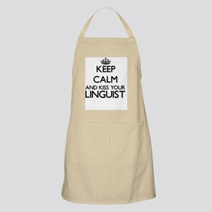 Keep calm and kiss your Linguist Apron
