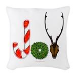 Christmas JOY Woven Throw Pillow