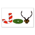 Christmas JOY Sticker (Rectangle 10 pk)