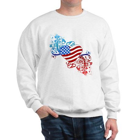 July 4th Heart Scroll Sweatshirt