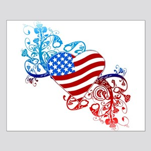 July 4th Heart Scroll Small Poster