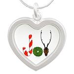 Christmas JOY Silver Heart Necklace